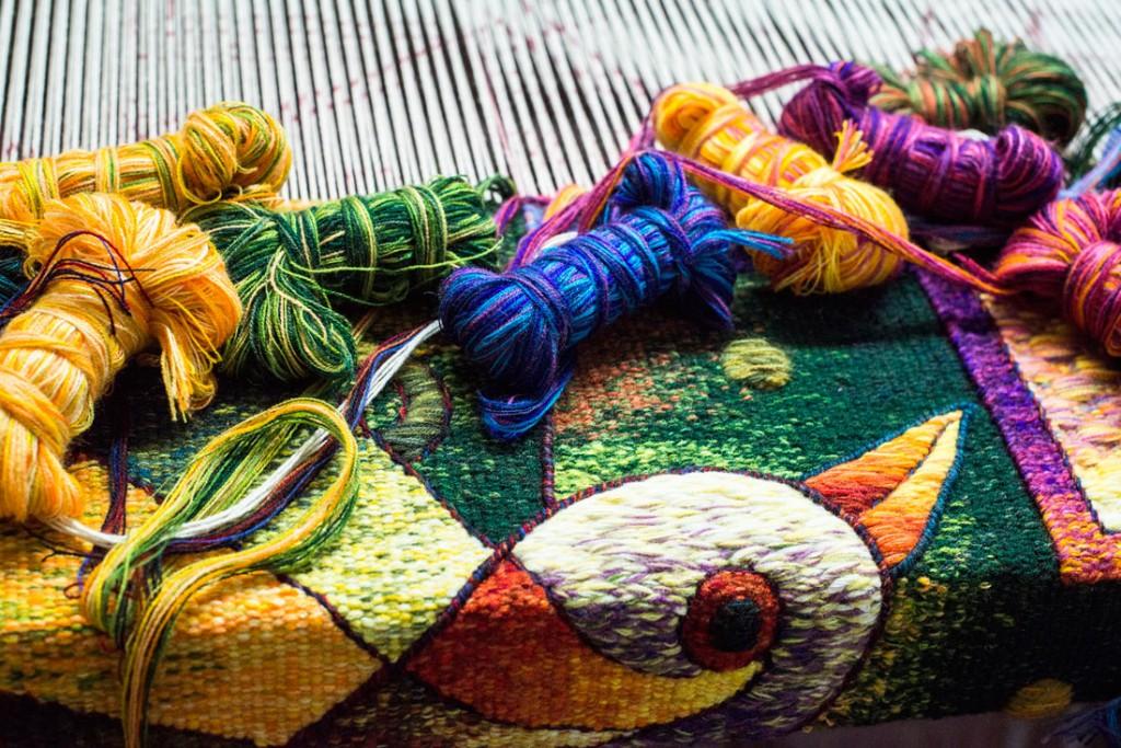 Maximo Laura Creation Process - Peruvian Tapestry Art