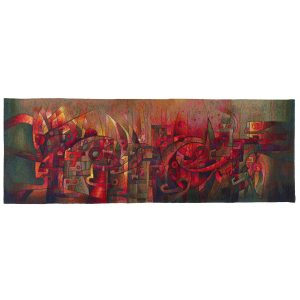 Dance of the Fire GodsSize: 39 x 114""